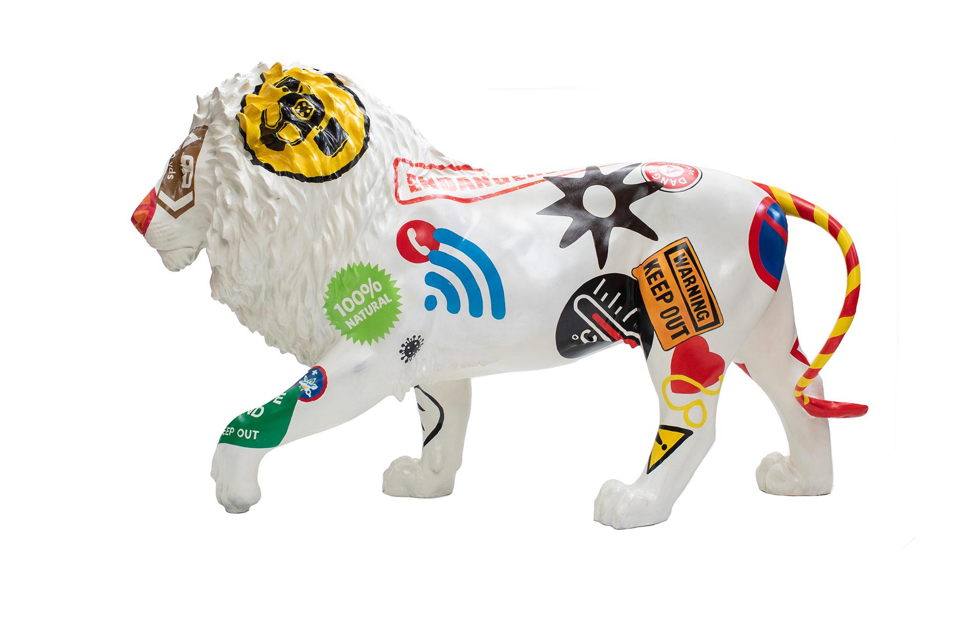 Tusk Lion Trail 2021 - David Mach - Generously sponsored by Emso Asset Management Image Credit: Nick Andrews