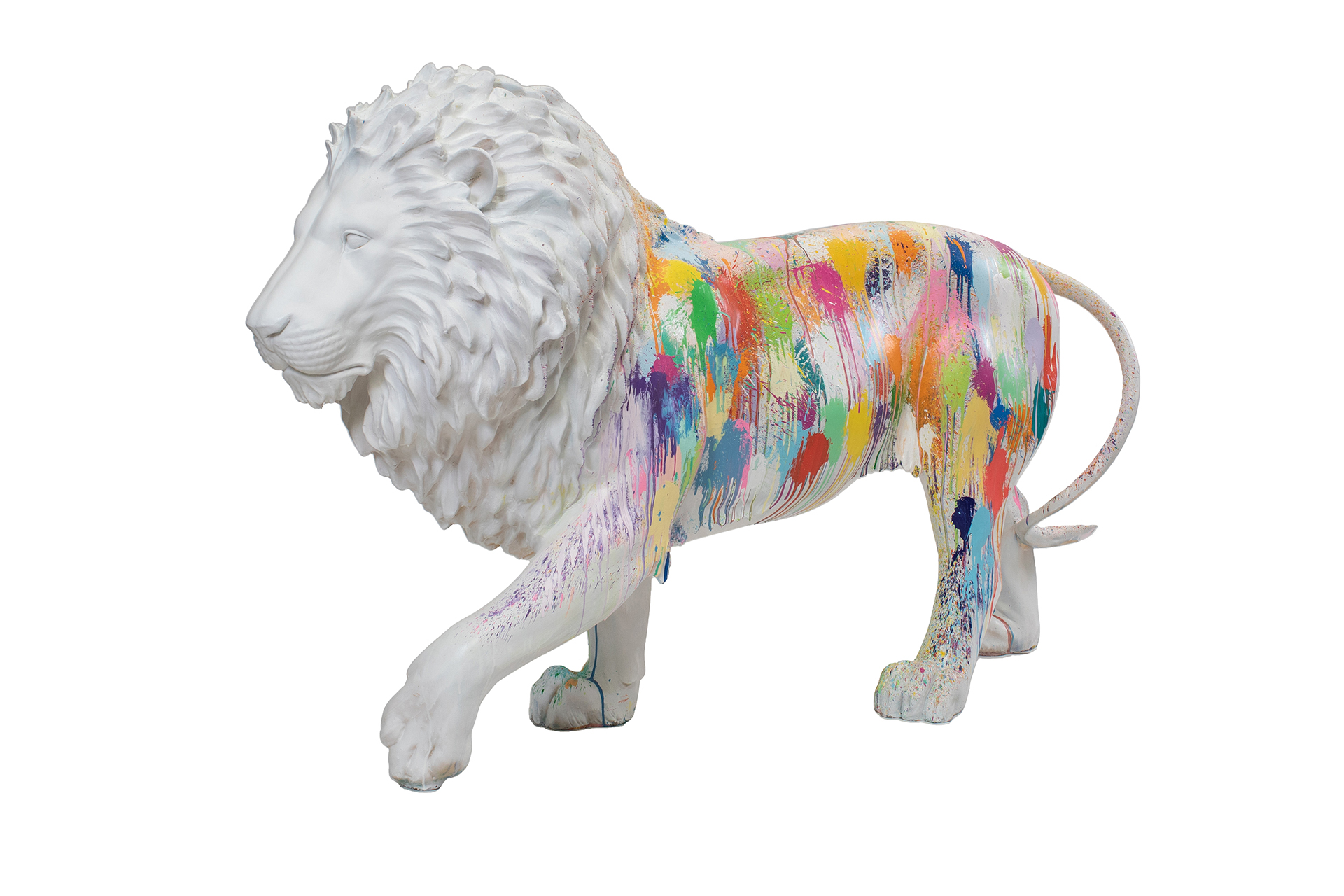Tusk Lion Trail 2021 - Ian Davenport - Generously sponsored by Mishcon de Reya Image Credit: Nick Andrews